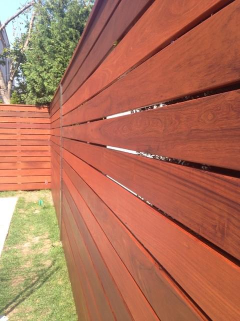 Projet clôture en Ipé